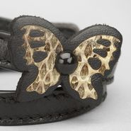 Intrecciato Ayers Butterfly Bracelet - Leather Bracelet - BOTTEGA VENETA - PE13 - 310