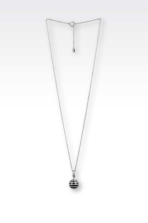 NECKLACE IN STEEL, RESIN AND CRYSTALS: Necklace Women by Armani - 1