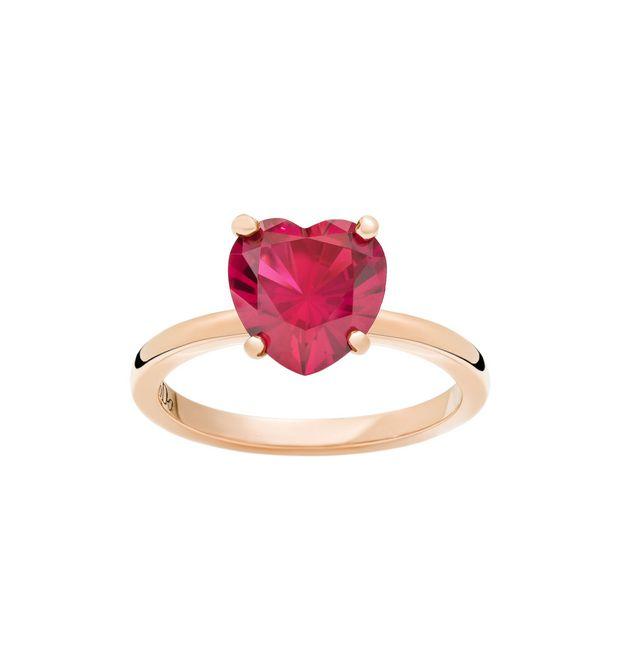 qualità del marchio ultimi progetti diversificati nuovo economico Anello 100% Amore - Oro Rosa 9kt, Rubino Sintetico - DoDo ...