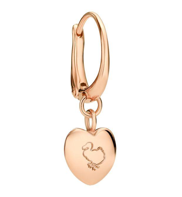 promozione nuova selezione stile squisito Orecchino Cuore - Oro Rosa 9 Kt - DoDo | Official Online Store