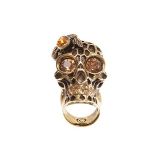 ALEXANDER MCQUEEN, Ring, Honeycomb Skull Cocktail Ring