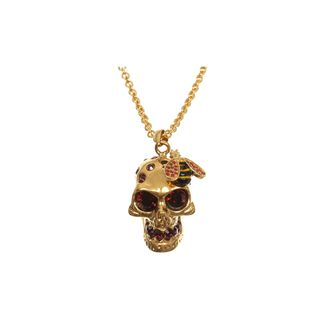 ALEXANDER MCQUEEN, Necklace, Crystal Bee and Skull Cocktail Pendant
