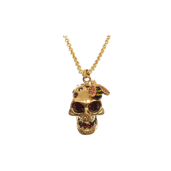 Alexander McQueen, Crystal Bee and Skull Cocktail Pendant