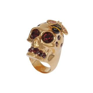 ALEXANDER MCQUEEN, Ring, Crystal Bee and Skull Cocktail Ring