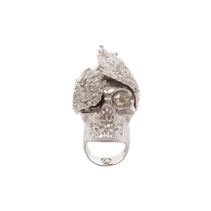 Alexander McQueen, Wings Skull Cocktail Ring