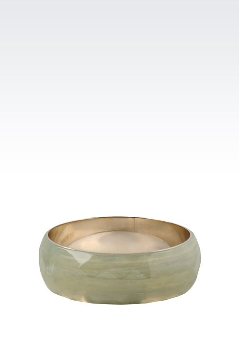 BANGLE IN FACETED RESIN: Bracelet Women by Armani - 1