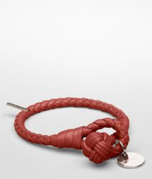 BOTTEGA VENETA - Leather Bracelets, Brique Intrecciato Nappa Bracelet