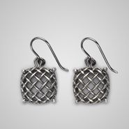 Oxydized Silver Rete Earring - Earrings - BOTTEGA VENETA - AI13 - 460