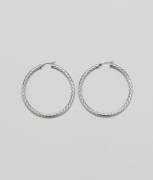 BOTTEGA VENETA Silver Intrecciato Earring Earrings D fp