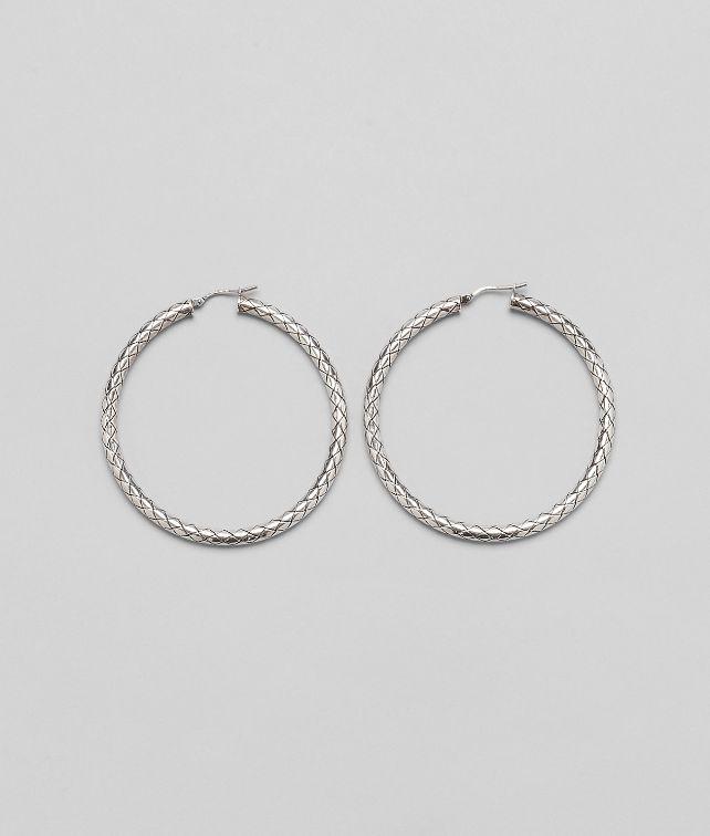 Ohrringe aus Silber Intrecciato