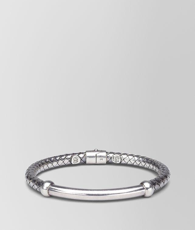 BOTTEGA VENETA BRACELET IN INTRECCIATO SILVER Bracelet D fp