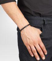 Nero Intrecciato Antique Silver Nappa Bracelet