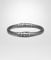 Bracelet en argent oxydé intrecciato