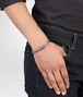 BOTTEGA VENETA Bracelet en argent oxydé intrecciato Bracelet U ap