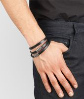BRACELET IN NERO CALF AND SILVER
