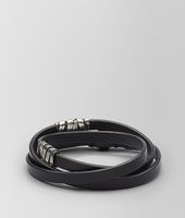 BRACELET IN NERO CALF SILVER