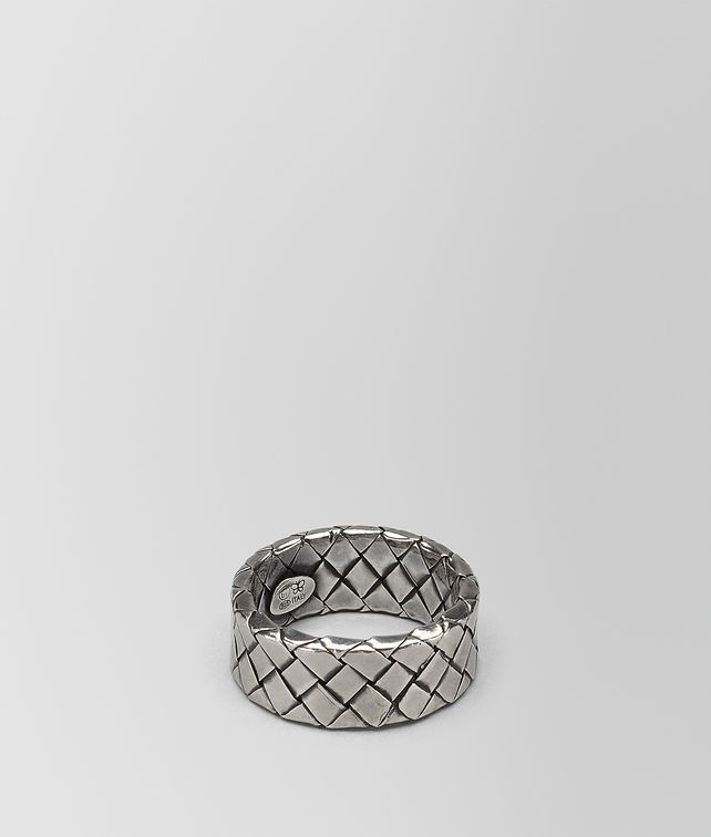 BOTTEGA VENETA RING IN INTRECCIATO SILVER Ring D fp