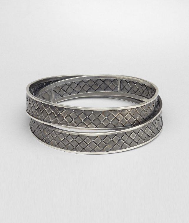 BOTTEGA VENETA Intrecciato Antique Silver Bracelet Bracelet D fp