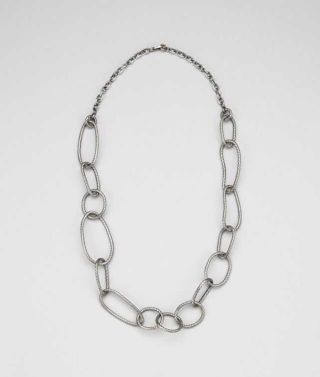 Intrecciato Antique Silver Necklace