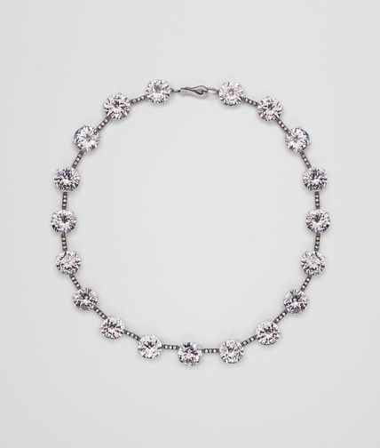 Oxydized Silver Naturale Zircon Necklace