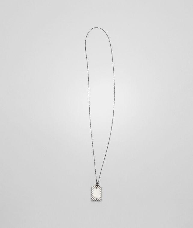 Intrecciato Oxydized Silver Pendant