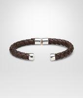 Ebano Intrecciato Antique Silver Nappa Bracelet