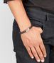 BOTTEGA VENETA BRACELET IN NERO INTRECCIATO NAPPA AND SILVER Bracelet U ap