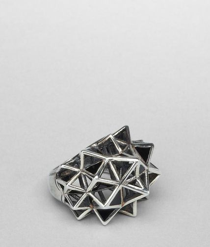 BOTTEGA VENETA - Enamelled Antique Silver Ring