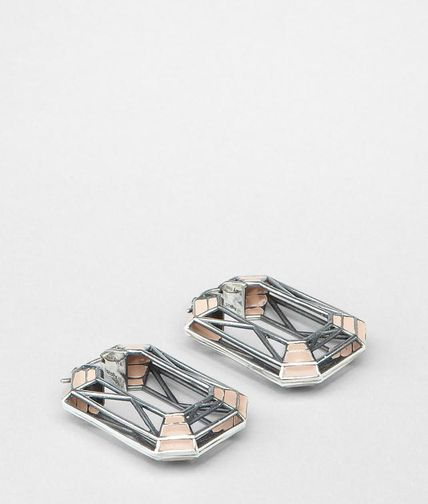 BOTTEGA VENETA - Enamelled Antique Silver Earring