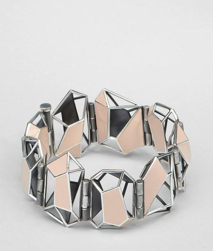 BOTTEGA VENETA - Enamelled Antique Silver Bracelet