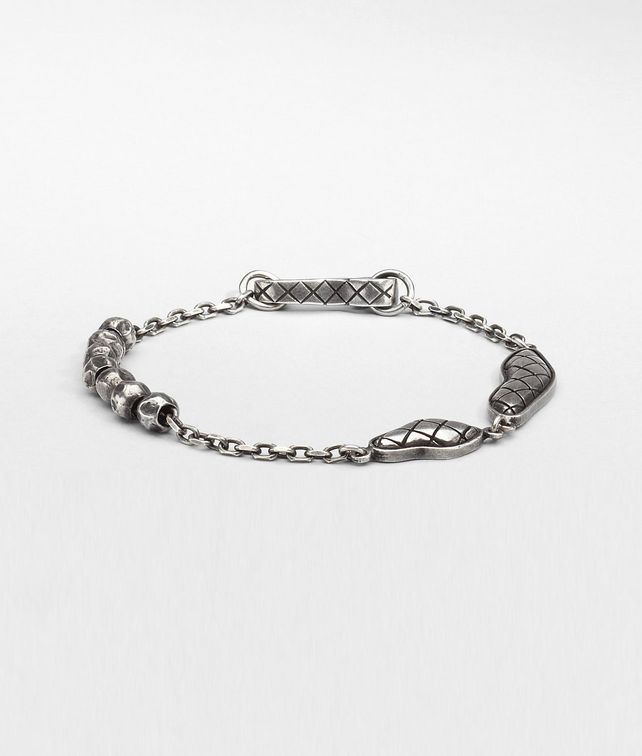 BOTTEGA VENETA Intrecciato Oxydized Silver Bracelet Bracelet U fp