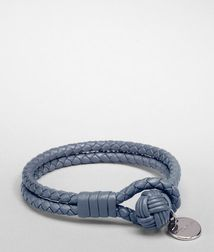 BOTTEGA VENETA - Leather Bracelets, Krim Intrecciato Nappa Bracelet