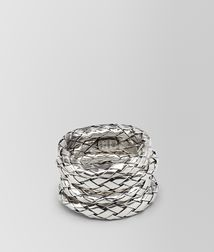 BOTTEGA VENETA - Rings, Intrecciato Antique Silver Rings