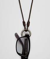 Ebanointrecciato Silver Nappa Eyeglasses Carrier