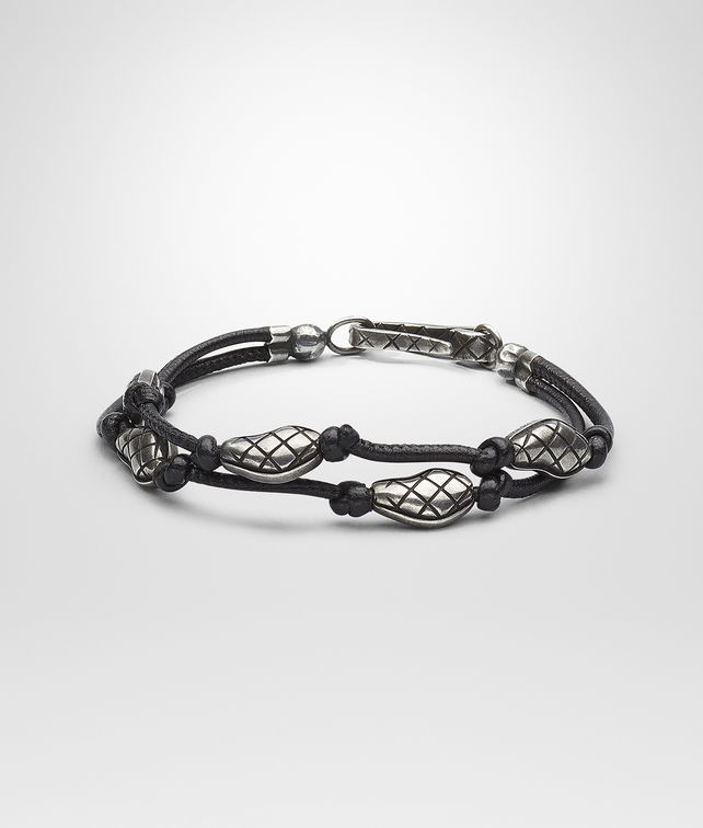 BRACELET IN NERO NAPPA AND SILVER