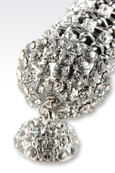 NECKLACE WITH WHITE RHINESTONE: Necklaces Women by Armani - 3