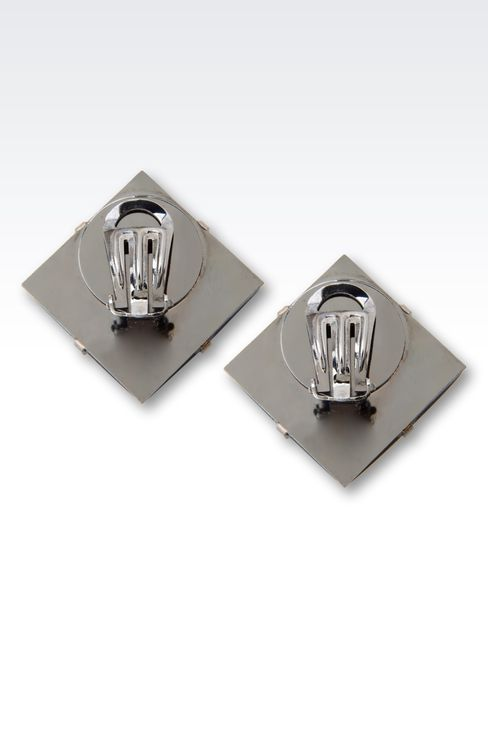 CLIP EARRINGS IN GLASS: Earrings Women by Armani - 3