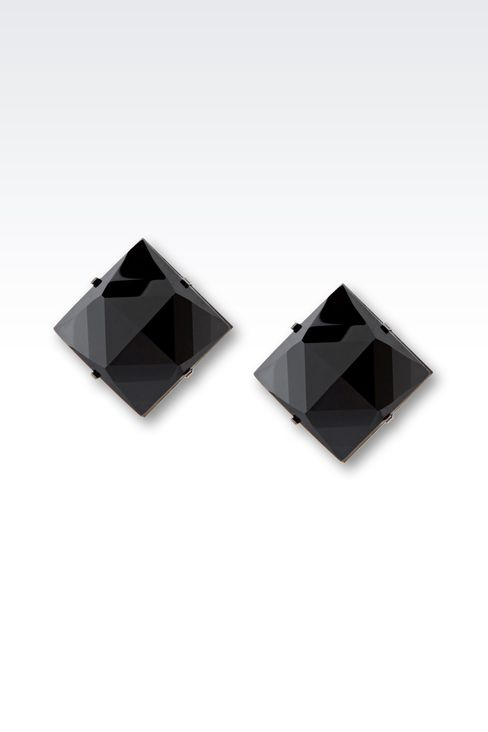 CLIP EARRINGS IN GLASS: Earrings Women by Armani - 1