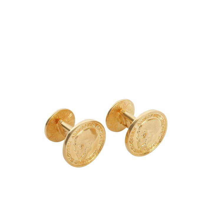 Alexander McQueen, Skull Coin Cufflinks
