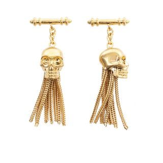 ALEXANDER MCQUEEN, Formal Accessory, Drop Chain Skull Cufflinks
