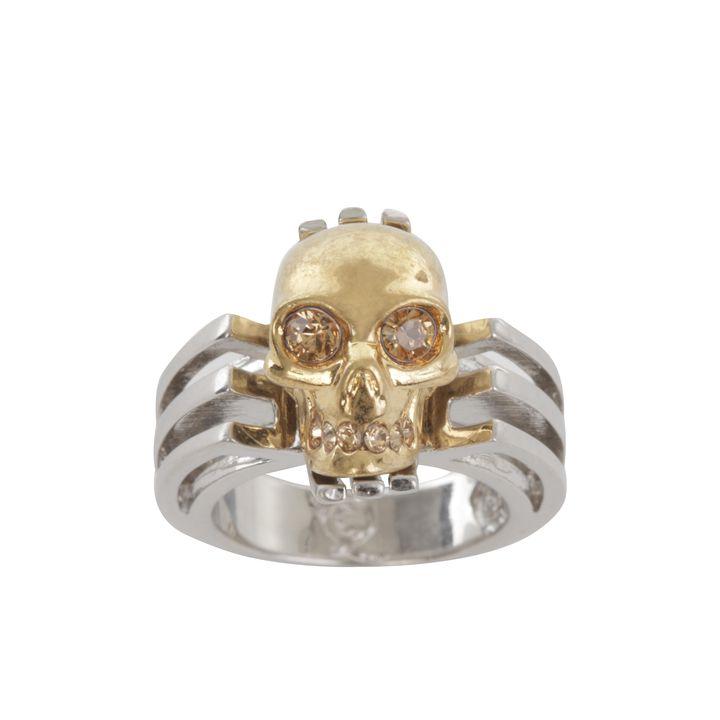 Alexander McQueen, Art Deco Skull Cocktail Ring