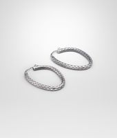 Koaxiale Ohrringe aus antikem Silber Intrecciato