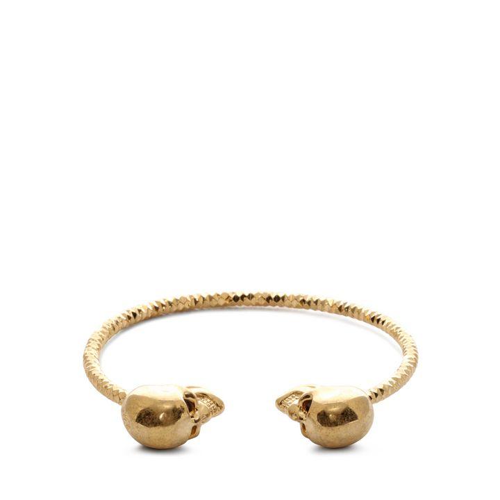 Alexander McQueen, Bracelet jonc Twin Skull
