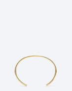 Classic Saint Laurent ROUND bangle in Gold Vermeil