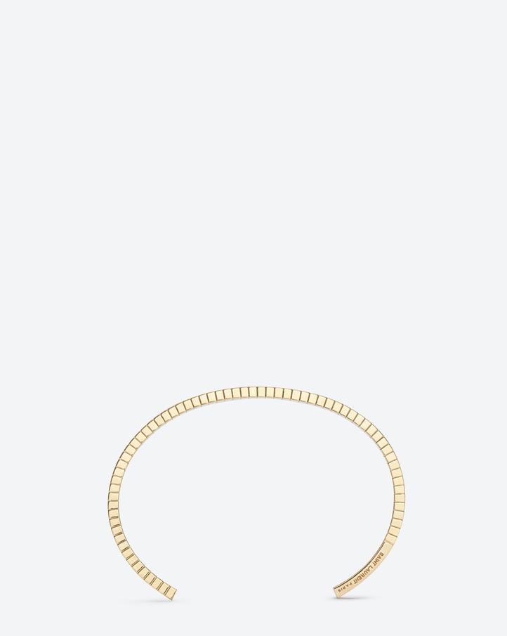 saint laurent armure fil stri u00c9 bangle in gold vermeil