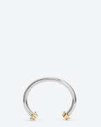 LE DEUX CLOUS BANGLE IN PALLADIUM-TONED STERLING SILVER AND GOLD VERMEIL