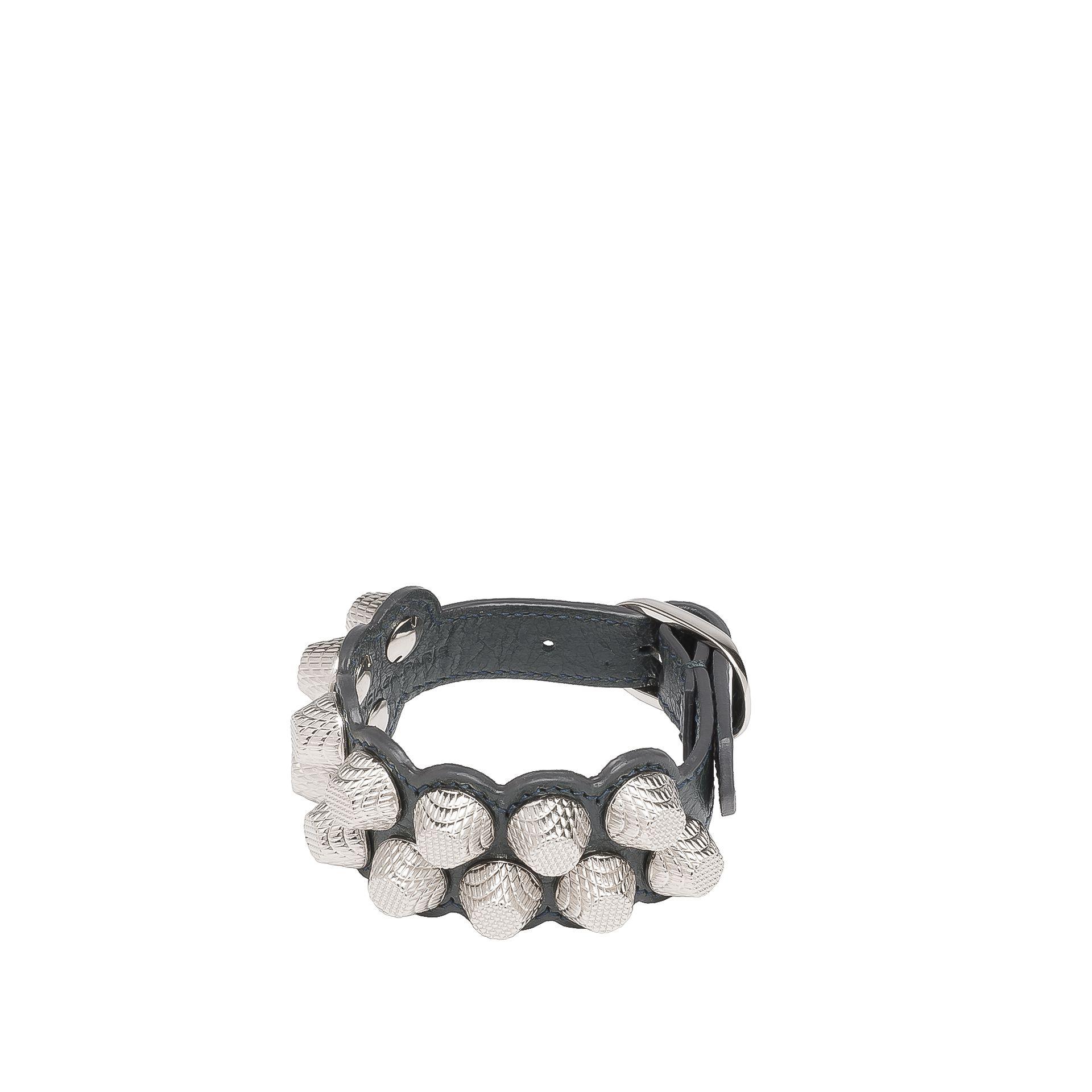 Balenciaga Giant Silver Bracelet Stud M