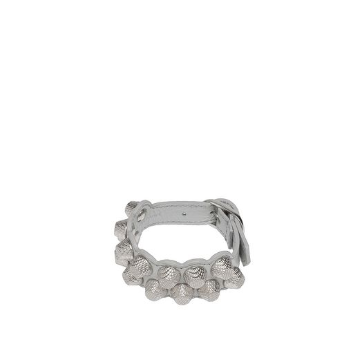 Balenciaga Giant Armband M mit Niete in Silber
