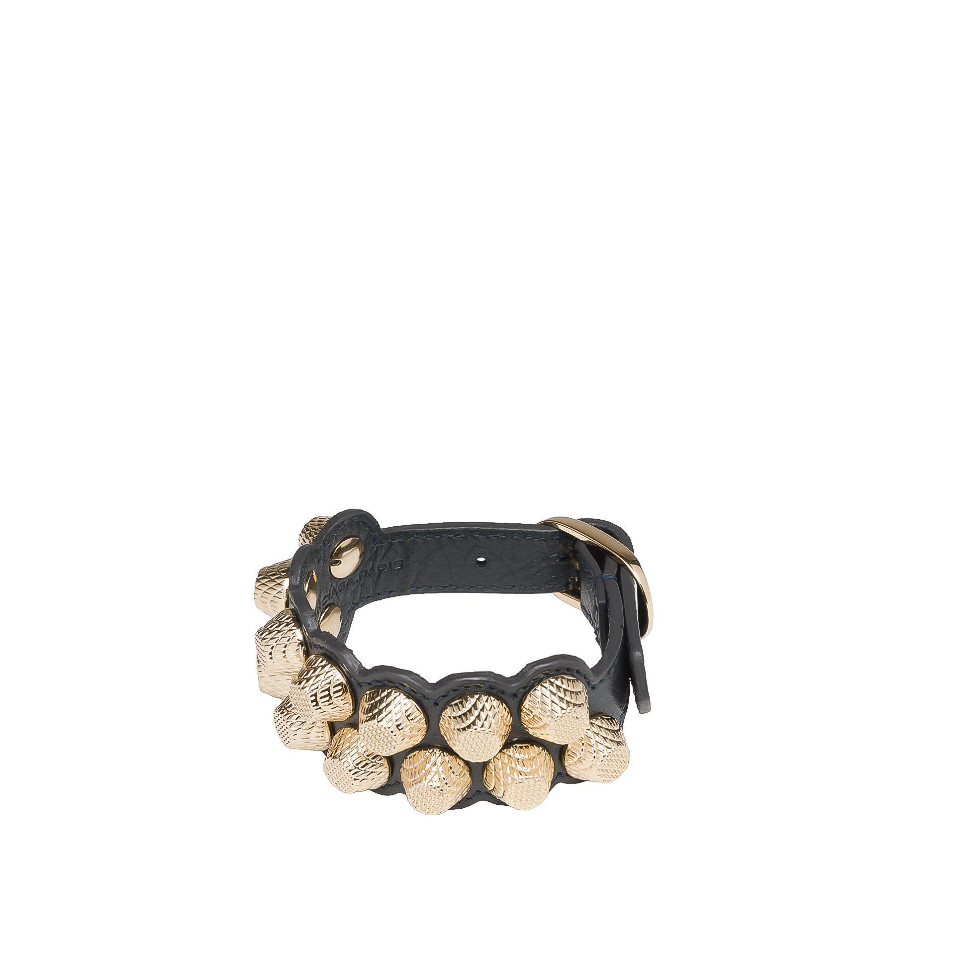 Balenciaga Giant Armband M mit Niete in Gold