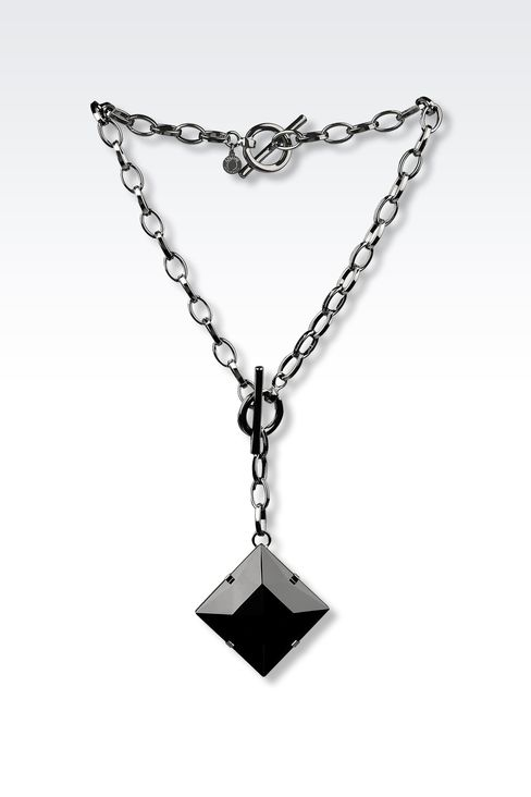 NECKLACE BRACELET WITH GLASS PENDANT: Necklace Women by Armani - 1